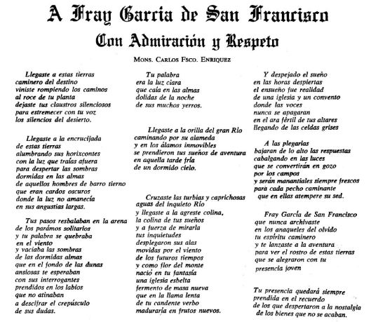 109 Enríquez - A fray García