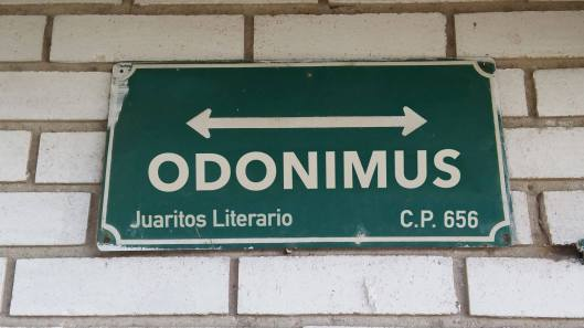 Placa Odonimus