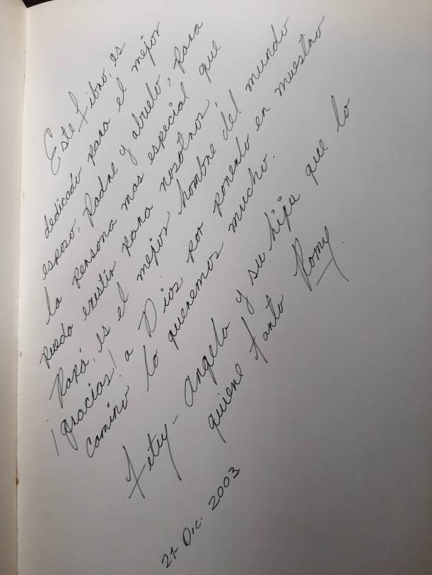 Joe Siller 1911 dedicatoria